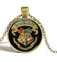 Fashion Movie Harry Potter Vintage Time Gem Photo Pendant Bronze Necklace WUK-1