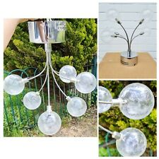 MADE Globe Large Flush Pendant Ceiling Light, Nickel & Frosted Glass