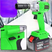 "19800mAh 1/2"" Electric Cordless Impact Wrench Brushless Gun Driver Tool Battery"