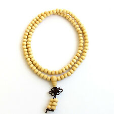 6mm White Wood Tibet Buddhist 108 Prayer Beads Multi-circle Mala Bracelet Unisex