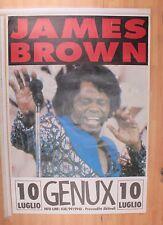 JAMES BROWN GENUX 10 LUGLIO ANNI 90 POSTER CONCERTO [MM 0082-A]