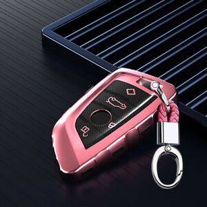Pink Remote Key Cover Case Shell Holder Fob for BMW X1 X3 X5 X6 1 2 5 7 Series