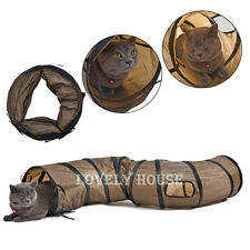 Folding S Road Cat Toy Collapsible Tunnel for Rabbits, Kittens, and Dogs