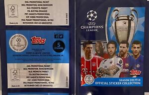 10 x Sticker Pack 2017 -2018 Topps Champions League Find Mbappe Rookie