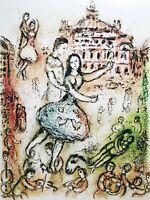 """Marc Chagall, """"L'opera"""" 40x30 litografia 1974 Mourlot Frères Paris"""