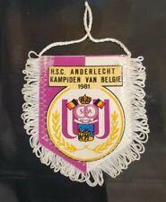 Maillot jersey shirt vareuse fanion pennant 1981 vintage anderlecht Belgique