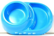 American Kennel Club Woof Feed Me Blue Colored Duo Pet Bowl Handwash Recommended