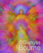 ANGEL of LOVING ABUNDANCE Angelic Painting - Glenyss Bourne Guardian Angel Art
