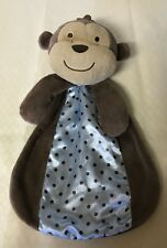 "Carter's Just One You Monkey Lovey Security Baby Blanket  13"" rattles"