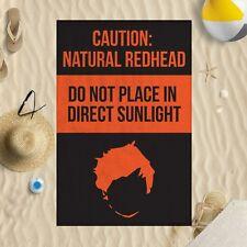 147x99.1cm ATTENZIONE NATURALE Redhead NO LUCE DEL SOLE Microfibra Telo Mare