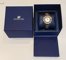 SWAROVSKI Crystal Crystalline Gold Tone PVD Silver Dial Watch 5200339