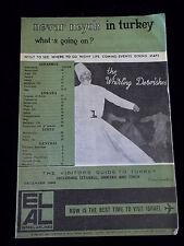 Vintage Turkish Whirling Dervish Cover Booklet Nevar Neyok 1966 maps Tourist