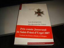 LES RECOMPENSES DES DIOCESES DE FRANCE di VEYRADIER/WERBA - 2007