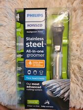 PHILIPS NORELCO~Multigroom 7000~Stainless Steel All-in-One Groomer/Trimmer~New