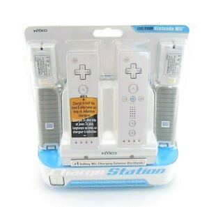 Nyko Wii Charge Station Dual Dock Includes 2 Rechargeable Batteries & Grips
