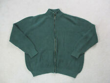 VINTAGE LL Bean Sweater Adult Extra Large Green Chunky Knit Full Zip Mens 90s