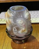 Fenton Glass Purple Atlantis Koi Fairy  Lamp