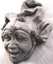 Jester Clown Sculpture Hangs on a Door, Beautiful Art Value for Home and Garden