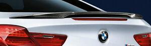 BMW F13 F06 6 Series Coupe Gran Coupe M Performance Rear Spoiler Carbon Fiber