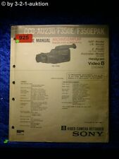 Sony Service Manual CCD AU230 /F350E /F350EPAK Video Camera Recorder (#0925)