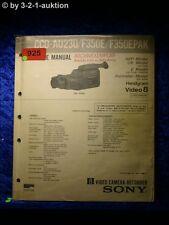 Sony Service Manual CCD AU230 /F350E /F350EPAK Video Camera Recorder (#0925)