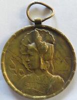 HUGUENIN R Engrave Swiss token die schweizer trachten BERN BERNE LES Portrait