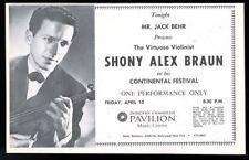 1970 Shony Alex Braun violin concert Chandler Pavilion La trade print ad