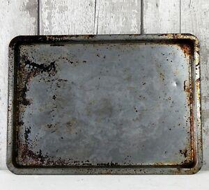 Vintage Oven Tray Tin Kitchenalia Baking Cooking Worn & Shabby #A