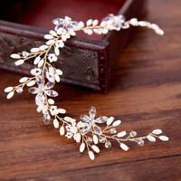 Leaf Hair Accessories Bridal Jewelry Accessories Handmade Crystal Headdress HOT