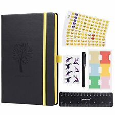 Bullet Journal - Lemome Dotted Numbered Pages Hardcover A5 Notebook with Pen...