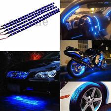 New 5 x 15 LED 12V 30cm Car Motor Vehicle Flexible Waterproof Strip Light Blue