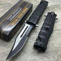 Tac Force Sawback Bowie Tactical Half Serrated Spring Assisted Pocket Knife