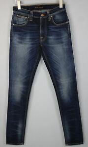 NUDIE Jeans LEAN DEAN PEEL BLUE Men's W29/L34 Stretch Organic Jeans #0548