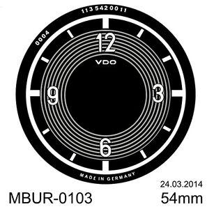 Uhren-Ziffernblatt  VDO Uhr Pagode 230SL  Bj. 1965