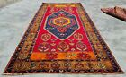 Distressed Hand Knotted Vintage Turkish Wool Area Rug 7 x 4 Ft (12503 KBN)