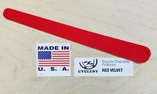 *Red velvet suede NEW HRC chainstay protector road mountain sticker decal