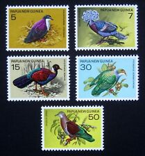 PAPUA NEW GUINEA 1977 Birds. Complete set of 5 stamps. MNH