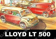 Lloyd LT 500 LT500 Kleinbus Kleintransporter Poster Plakat Bild Schild Laster