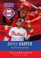 * BRYCE HARPER L@@K 2019 VERY FIRST EVER PHILADELPHIA PHILLIES HOT CARD *