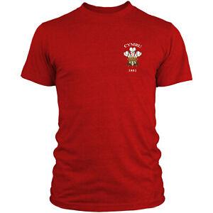 Cymru Welsh Retro Rugby T Shirt Vintage Supporter Fan 6 Nations Top Men Wales L3