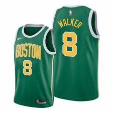 Kemba Walker #8 Boston Celtics Men's N Green w/ yellow # Earned Jersey