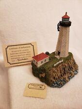 Harbour Lights 216 Faulkner'S Island, Ct Lighthouse Box Coa #1054/10,000 c.1998