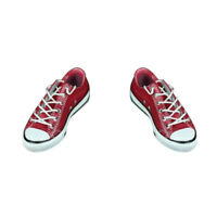 1/6th Red Canvas Shoes for 12inch Hot Toys CY CG Girls JO   Figures
