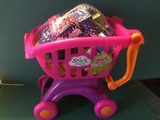 Spark Brand Kids Child's Toy Shopping Cart and Play Food BNIP