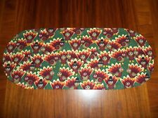 New Whimsical Thanksgiving Turkeys--Sm Table Runner--Toilet Tank Topper--Dresser