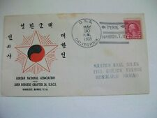 1935 Vintage Envelope Korean National Association