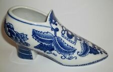 """Blue and White Porcelain Shoe 7-1/4"""""""