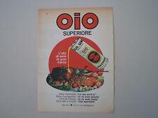 advertising Pubblicità 1963 OLIO OIO