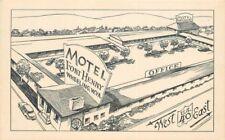 Artist Impression Birdseye 1940s Motel Fort Henry roadside Wheeling West Va 1131