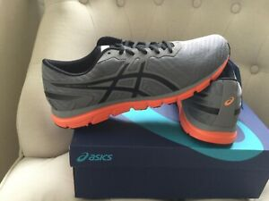 BRAND NEW ASICS TRAINERS SZ 9 GREY RRP£65 RUNNING TRAINING GYM CASUAL WEAR